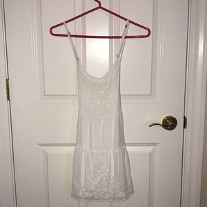 Abercrombie & Fitch white embroidered dress